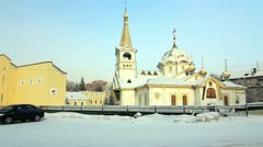 Orthodox Cathedral Cathedral, Novosibirsk, Russia Stock Footage