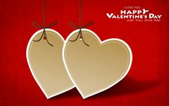 Valentine's day card with heart paper Stock Photos
