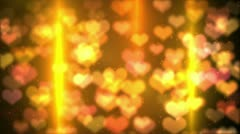 Colorful background heart bokeh light HD loopable Stock Footage