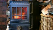 Stock Video Footage of Wood Burning Stove