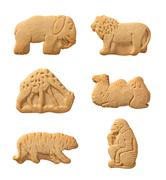 Animal crackers isolated with a clipping path Stock Photos