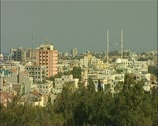 Famagusta northern Cyprus High wide shot city16:9 PAL Stock Footage