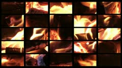 Composite of  Real Fire Stock Footage
