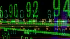Vintage radio dial frquency Stock Footage