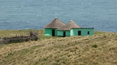 Transkei home with the Ocean in background Stock Footage