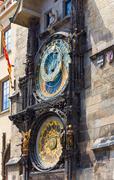 Prague astronomical clock  (prague, czech republic) Stock Photos