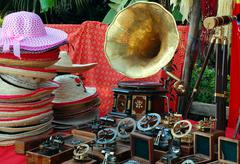 at the flea market - stock photo