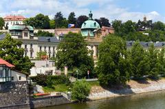 the straka academy in prague (czech republic - stock photo