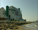 Hotel on the beachfront hotel near Famagusta northern Cyprus 16:9 PAL Stock Footage