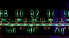 Vintage radio dial frquency Stock Footage