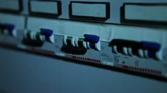 Electric switch - stock footage