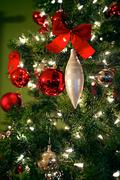 Stock Photo of Christmas tree and decorations