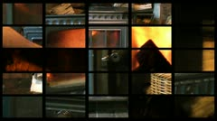 Composite of  a wood burning stove Stock Footage