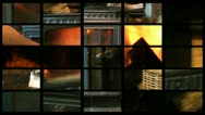 Stock Video Footage of Composite of  a wood burning stove