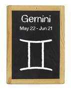 Stock Illustration of zodiac sign gemini