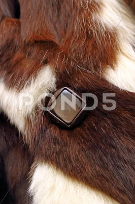 Stock photo of button on a coat
