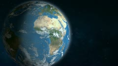 Earth In Space - Zoom At Middle East Stock Footage