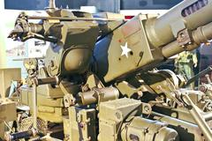 anti-aircraft gun at museum of battle of normandy. bayeux, france - stock photo