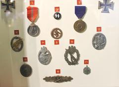 exhibits at the museum of the battle of normandy. . france. german orders, me - stock photo