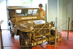 Car war correspondent at the museum of the battle of normandy.  bayeux, franc Stock Photos