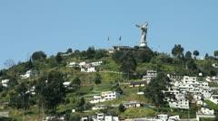 El Panecillo, Quito Stock Footage