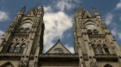 Basilica of the national vow, Quito Stock Footage