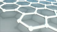 Atomic-scale honeycomb carbon atom, world's strongest material, Graphene. Stock Footage