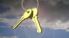 Animated Keys Stock Footage