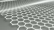 Stock Video Footage of Atomic-scale honeycomb carbon atom, world's strongest material, Graphene.