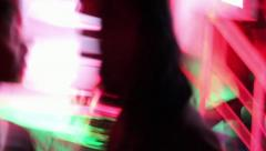 Night club's dance floor - Insomnia, sleeplessness, nightmare, disease - stock footage