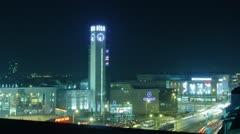 Riga center at night 10 bit - stock footage