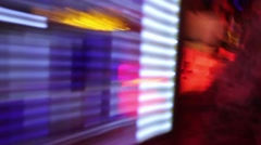 Low frame rate shot of bar in club as if the person was drunk or used drugs Stock Footage