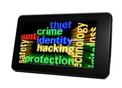 Crime identity hacking Stock Photos