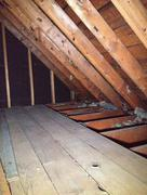 Attic Crawl Space - stock photo