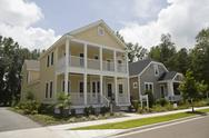 Victorian styled model homes Stock Photos
