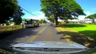 NORTH SHORE MARKET OAHU HAWAII DRIVE CONVERTIBLE POV SURF TOWN VACATION HALEIWA Stock Footage