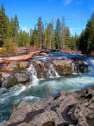 Rogue River Gorge 1 - stock photo
