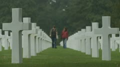 The Normandy American Cemetery (15) Stock Footage