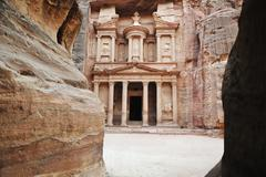 Al khazneh - the treasury of petra ancient city, jordan Stock Photos