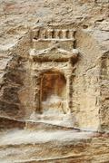 Ancient artifact godness tomb in petra Stock Photos