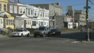 57th Street and Kingsessing Avenue area in Philadelphia Stock Footage
