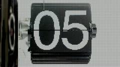 Flip clock Stock Footage