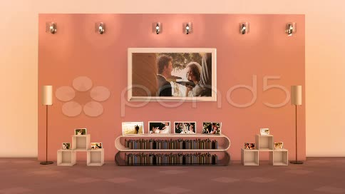 After Effects Project - Pond5 3D Photo Gallery Living Room 20622512