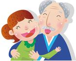Grandfather With Granddaughter Stock Illustration