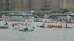 Queen Elizabeth Diamond Jubilee Flotilla Stock Footage