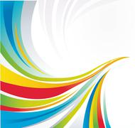 Colorful lines Stock Illustration