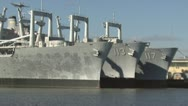 Stock Video Footage of Retired amphibious cargo ships
