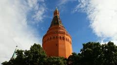 Kremlin Arsenal Tower Stock Footage