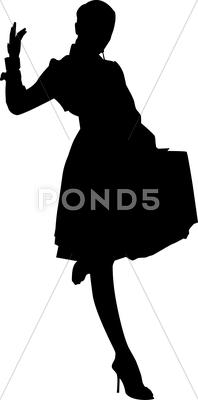 Stock Illustration of Beautiful woman silhouette