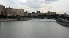 Moscow river Stock Footage